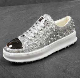 Wholesale colour lace wedding dresses - 2018 mens shoes Men's Casual barber Casual shoes rivet stylist colours mens designer shoes men luxury loafers 48