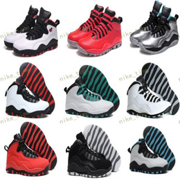 Wholesale Vivid Canvas - Cheap Air Retro 10 Paris NYC CHI Rio LA Hornets City Pack Vivid Pink 10s Mens Basketball Shoes Sneakers Retro X trainer Sports footwear
