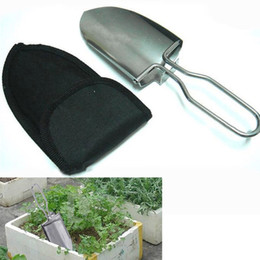 Wholesale Stainless Steel Garden Spade - New Mini Shovel Stainless Steel Gardening Spade Folding Portable Camping Tool Outdoor Hand Shovel Hiking Accessory MA0261
