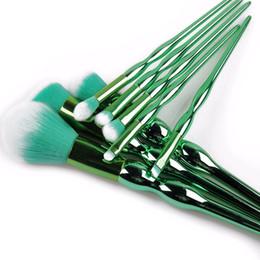 Wholesale Gourd Brush - wholesale 8 pieces makeup brush set gourd green gold color handle face brush eye brush kits