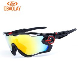 caja de bicicletas Rebajas Brand Sport Sunglasses Polarized Cycling Sunglasses For Men Mujeres Gafas Mountain Bike Bicycle Run Eyewear con 3 lentes y caja de alta calidad
