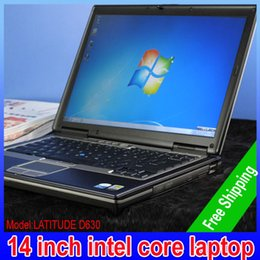 Wholesale Cpu Used - New arrival LATITUDE D630 14 inch intel core2 duo cpu 2.0GHZ laptops gray metel Shelll pc with 2G 80GB Wifi high quality english version