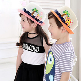 Wholesale Knitted Hats Korea - Korea Style Cute Children Knitted Cotton Hats Boy And Girl Cartoon Small Top Hats Multi Color