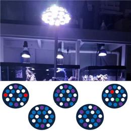 Luces led para tanques de arrecife online-54W E27 LED Aquarium Light Full Spectrum PAR 38 Fish Tank Coral Reef Grow Lights
