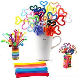 2019 materiais montessori atacado Atacado-BSTAOFY Dropshipping 100pcs Montessori materiais Chenille crianças brinquedo educativo artesanato crianças colorido limpador de tubos artesanato materiais montessori atacado barato