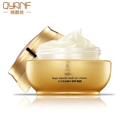 Wholesale Reduce Cream - QYANF Snail Eyes Cream Skin Care Skin Treatment Acne Pimples Reduce Scars Moisturizing Remove Pouch 20g 1219004