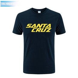 Wholesale Skating Clothes - New Summer Dress Skateboard Skate Santa Cruz Printed T Shirt Men Shirts Camiseta Tee Clothing Men's Sportswear Large Size Dress