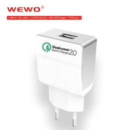 Wholesale Eu Charger For Lg - USB Wall Charger Quick Charge EU Plug USB Charger QC 2.0 Fast Charger Travel for Samsung LG Xiaomi HTC Smart Iphone Chargers
