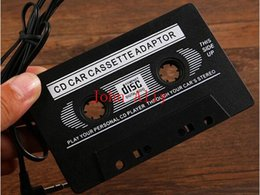 Wholesale Auto Cassettes - Best Price Hot selling Newest CD Player Auto Car Audio Cassette Tape Adapter for iPod Phone MP3 MP4 Free Shipping 500 Pieces lot