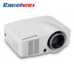 Wholesale micro proyector - Wholesale-Excelvan LED3018 Portable Android LED Projector 640*480 AV HDMI USB Micro SD Home Theater Proyector For Gaming Education Meeting