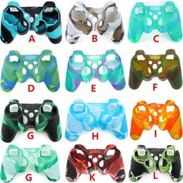 Wholesale Silicone Joystick Covers - For PS3 Gamepad Silicone Cover Rubber Case Camouflage Protective Cover for Playstation 3 Controller Controle Joystick