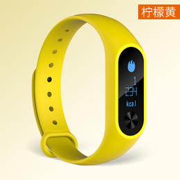 xiaomi m2s Promo Codes - Wholesale- 2016 M2S 0.86inch OLED display Heart Rate Monitor Smartband Health Fitness Tracker Fitbit for Android iOS pk Xiaomi Mi band 2