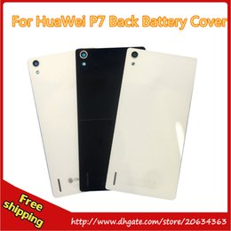 Wholesale Huawei Ascend Battery - For Huawei Ascend P7 Back cover Battery Cover white and black color 100% new tracking No. free shipping