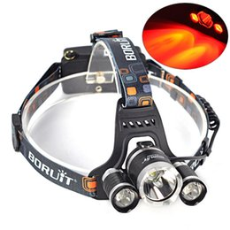 Wholesale Led Mining Headlight - Wholesale-headlamp T6 LED 1*T6 Zoom+2*R5 Rechargeable Head light 5000 lumens Headlight hunting lamp mining lamp head lamp searchlight