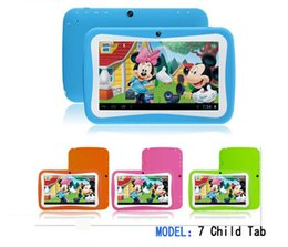 Wholesale inch Kids Tablet PC RK3126 Quad Core G ROM Android With Children Educational PAD for Children DHL