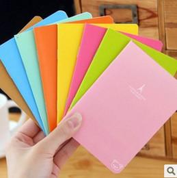 Wholesale Rilakkuma Notepad - Wholesale- Kawaii Candy Color Rilakkuma&Eiffel Tower Pattern Cover Notebook Notepad Diary Book Exercise Book KCS