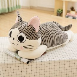 Wholesale Cheese Cat Toy - 40cm chi`s sweet home cheese cat pillow plush toys sweet cat stuffed cat pillow cushion for leaning