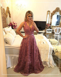 Wholesale Floor Carpet Squares - Sexy Long Lace Evening Dresses 2017 Square Neck Beaded Formal Evening Gowns With Sexy Backless Prom Party Dress