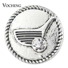 Wholesale Sports Charms Golf - VOCHENG NOOSA Ginger Snap Button Golf Club with Crystal 18mm Sports Charms Vn-1742