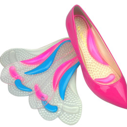 Wholesale Flat Feet Pain - Women's silicone gel flat foot arch support insole high heel shoes insole shock absorption alleviate foot pain foot care pad