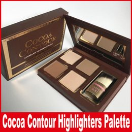 Wholesale eyeshadow palette cosmetics - COCOA Contour Kit Highlighters Palette Nude Color Cosmetics Face Concealer Makeup Chocolate Eyeshadow with Contour Buki Brush