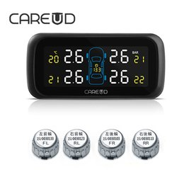 Wholesale Tpms Tire Pressure Sensor - CAREUD U903 TPMS Wireless Tire Pressure Monitoring System Car 4PCS Mini External Sensors No Need to Disassemble the Tires Auto