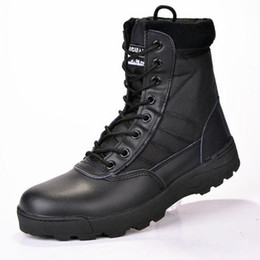 Wholesale Army Combat Boots - 2017 new us Military leather boots for men Combat bot Infantry tactical boots askeri bot army bots army shoes erkek ayakkabi