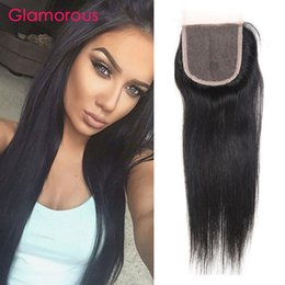 Wholesale Virgin Brazilian Lace Closure 1pcs - Glamorous Malaysian Peruvian Indian Brazilian Straight Hair Closure 1pcs Virgin Remy Hair Lace Closures Original Human Hair Pieces for women
