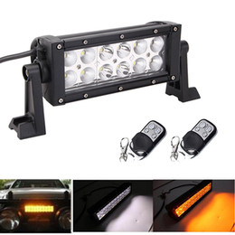 "Wholesale Green Atv Light Bar - 7.5"" 36W Led Work Light Bar Combo Beam White  Amber,Green,Blue,Red 2 Colors Swtiched Strobo flash Offroad Warning ATV SUV Boat"