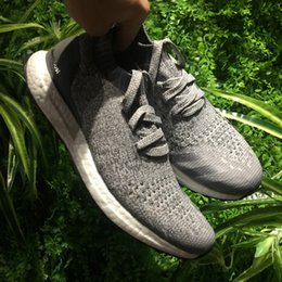Wholesale Plastic Boxes Sale - Parley Ultra Boost Uncaged & Triple Black White UltraBoost Shoes on sale, Real Boosts and Primeknit with a sock-like fit Men Women With Box