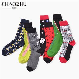 Wholesale Novelty Combs Wholesale - Wholesale- 39-45 Socks Brand Women Men's Novelty Socks Combed Cotton Christmas Gift Chausettes homme Animal Puzzle Design Funny Socks Men