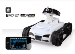 Wholesale Spy Mini Phone - Wholesale- Amazing rc car with phone WIFI control and Tank model remote control Car With HD Camera gift for kid Toys i spy mini stunt car