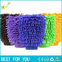 Wholesale Car Scratch Cleaner - Super Mitt Microfiber Car Wash Gloves Washing Cleaning Anti Scratch car washer Household care brush hot selling