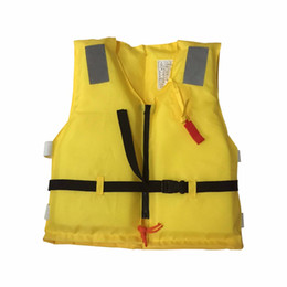 Wholesale Children Ski Suit - Wholesale- 2016 New Summer Swimming life vest Children's inflatable swimming vest   bathing suit  Swimming Jacket
