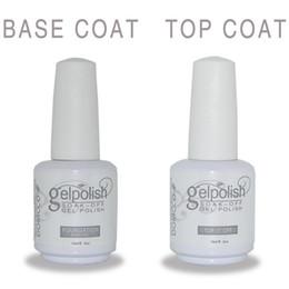 Wholesale Uv Top Coat Polish - FREE SHIPPING 15ML PROFESSIONAL SOAK OFF LED&UV GEL NAIL POLISH FOR NAIL ART BEAUTY CARE+PRIMER BASE COAT+TOP COAT SET FOR SALON