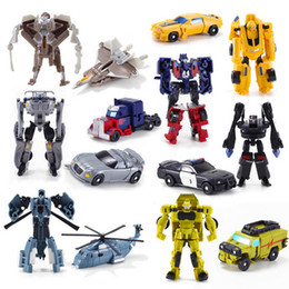 Wholesale Classic Car Years - New Arrival Mini Classic Transformation Plastic Robot Cars Action Figure Toys Children Educational Puzzle Toy Gifts