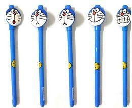 Wholesale Korea Cat Cartoon - factory sells South Korea creative office stationery cute cartoon doraemon series jingle cat emoji neutral pen