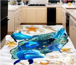 Wohnzimmer Bodenfliesen Online Sea World Floor Fliese Dolphin Wohnzimmer  Badezimmer Hintergrund Wall 3D PVC Boden