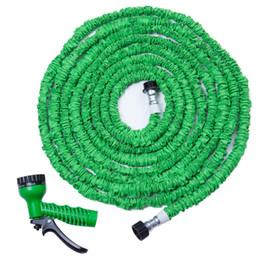 Wholesale Expandable Flexible Garden Hose - flexible New 7 in 1 Spray Gun Expandable Garden Latex Tube Magic Flexible Hose 25 50 75 100 125FT 150FT