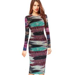 Argentina Nueva moda para mujer elegante Vintage Retro Rockabilly Pinup geométrica Colorblock fiesta de contraste informal vestido Bodycon vaina cheap geometric colorblock dress Suministro