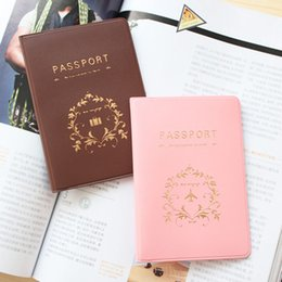 Wholesale Document Protector - Fashion Passport Ticket ID&Document HoldeR Credit Card Travel Cover Protector travel accessories passport case 2 Colors