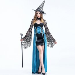 Wholesale Sexy Cosplay Fairy - Fairy Tales Sexy Witch Costume for Women New Arrival Halloween Carnival Luxurious Fashion Sorceress Cosplay Dress Stage Costume W880332