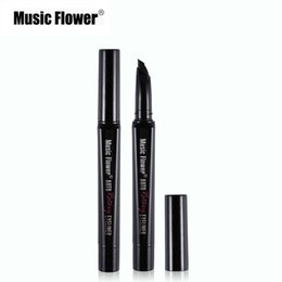 Wholesale Flower Dryer - Wholesale- Music Flower Push-up Eyeliner Auto Rotating Liquid Eye Liner Waterproof Lash-hugging Gel Liner Pen Quick Dry Strong Color