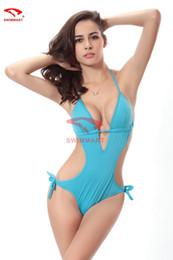 Цельный купальник европейская и американская мода цельный глубокий V культивировать свою мораль показать тонкий купальный костюм от