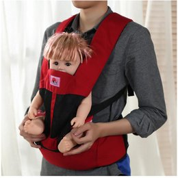 Wholesale Cotton Sling Backpack Wholesale - Wholesale Breathable Baby Carrier Multifunction Backpack Portable Kid Pouch Front Backpack Adjustable Toddler Sling Wrap Suspenders Seat
