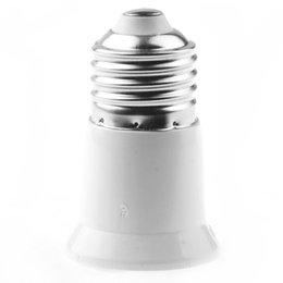 Wholesale Led Light Converter - E27 to E27 Lamp Base Holder LED Light Lamp Bulb Adapter Converter Socket Extender Free Shipping