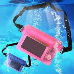 Wholesale Bag Promotional Pvc - 11 Colors Universal Waterproof Waist Bag Waterproof Pouch Case Underwater Dry Pocket Cover For Cellphone Mobile Phone CCA6744 100pcs
