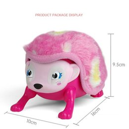 Wholesale Gentle Pink - wholesale cute pink interactive hedgehog cute pink and gentle blue in stock cute toys with friends electronic pets easy to planing wholesale
