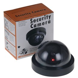 Wholesale Dome Security Camera Indoor Outdoor - Dummy Camera Home Security Fake Simulated video Surveillance indoor outdoor Dummy Led Dome Camera Signal Generator Electrical SF66
