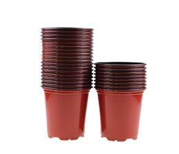 "Wholesale Round Flowers - 100PCS-PACK 3.5"" High Quality Reusable Round Nursery Pots Plastic Plant Pot Flower Wholesale Pirce for Plants, Cuttings, Seedlings"